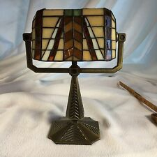 Party Light Tea Light Lamp 10 Inches Tall Candle Light Metal And Stain Glass