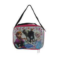 Brand New Dsney Frozen Elsa Anna Olaf Pink School Lunch Box Bag