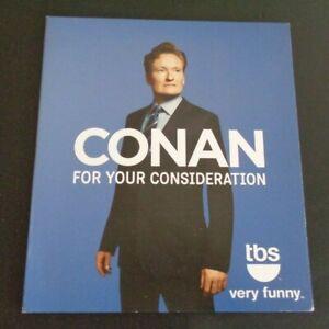 CONAN O'BRIEN  For Your Consideration DVD FYC Promo TBS 2 Episodes 2014 Comedy