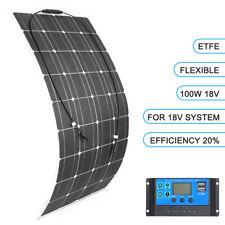 100W Flexible Solar Panel Waterproof Module Battery Charging for Boat Car Roof