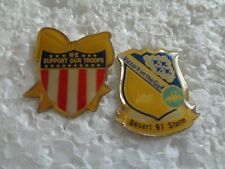 Job lot of 2 Desert Storm Gulf war military metal lapel pins