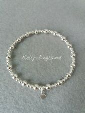 Sterling Silver Mixed Bead Stretch Stacking Bracelet