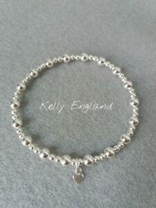 Sterling Silber gemischt Perlen Stretch-Armband
