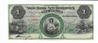 $1 New Jersey New Brunswick State Bank 18XX one signature G15 #10121 plate A