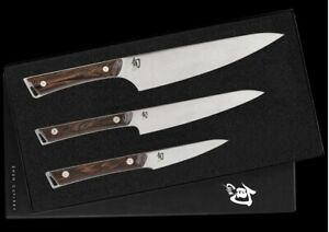 "Shun Kanso 3.5"" Paring 6"" Utility & 8"" Chef's Knife 3 PC Starter Set SWTS0351"