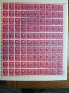 4 Cent Madison #808 MNH Sheet of 100 Presidential Series Free Shipping VIEW PICS