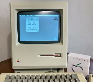 1984 Apple Macintosh M0001 First Mac Complete Working Keyboard Mouse System Disk