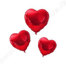 Herzballon, für Helium Farbe Rot Inhalt 5 Ballons Folienballon