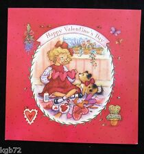 Leanin Tree Valentine Card Valentine's Day Kids Puppies Love V53