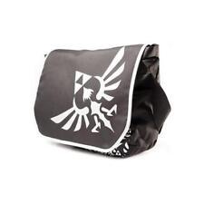 GA219899 ZELDA Polyester Messenger Bag with Embroider Link Logo, Black/White