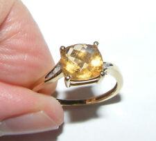 DIAMOND & CITRINE GOLD RING -