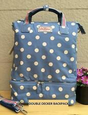 CATH KIDSTON DOUBLE DECKER BACKPACK BUTTON SPOT BLUE HAND SHOULDER BAG SLING
