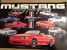 Mustang Anniversary Poster. 20 x30 inches