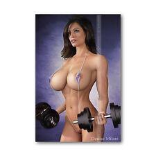 Z • 723 Photo Fridge Magnet Beautiful Woman Denise Fitness Gym Sexy Mini Bikini