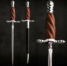 Italian Renaissance Stiletto Dagger Knife with Tempered High Carbon Steel Blade