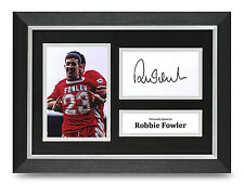 Robbie Fowler Signed A4 Photo Framed Display Liverpool Autograph Memorabilia COA