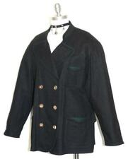 ZEILER BLACK WOOL JACKET Coat Women German Gorsuch Winter Designer 18 XL B48""