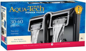 Power Aquarium Water Filter System 30 to 60 Gallon Tanks 3 Step Filter Aqua Tech