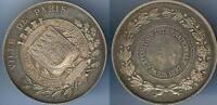 Médaille de table - PARIS 1897 exposition internationale cuivre argenté d=50,5mm