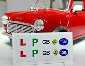 1:24 Scale Modern Model Car Kit Custom Learner GB Accessory Decals Stickers ONLY