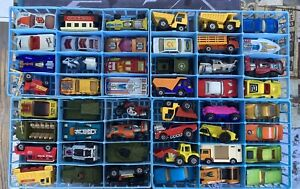 Vintage Matchbox Carry Case 48 Superfast Diecast Lot (Nice Cars and Rough Case)