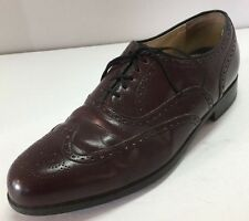 Florsheim Burgundy Brogue Oxford Dress Shoes Men's 9.5D