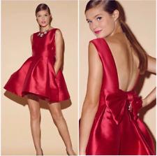 Kate Spade Silk Blend dress Large Bow Back Wedding Geranium size 00  $428