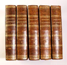 1811-1828 Michaud Biographie Universelle Edition originale Reliure 52 volumes