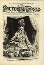 1879 French Fete At The Albert Hall Sarah Bernhardt's Stall