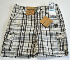 Timberland boys brown plaid shorts size 6/9 months
