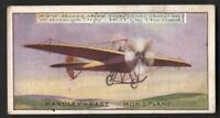 Handley-Page Monoplane  Avaiton History 100+ Y/O  Trade Ad Card