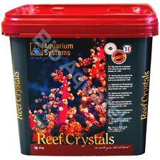 10KG Reef Crystals Aquarium Systems Sea Salt Bucket Tub Marine Fish Tank Coral