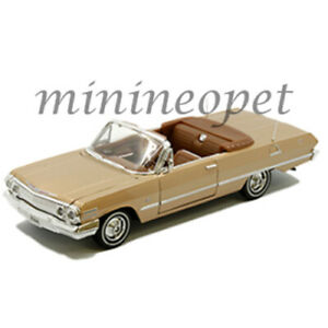 WELLY 22434 NEX 1963 CHEVY IMPALA SS CONVERTIBLE 1/24 DIECAST MODEL GOLD