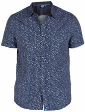 Men's Floral Short Sleeve Cotton Casual Shirts & Tops