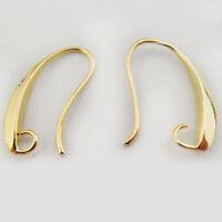 25PCS Fashion Golden Tone Brass Earring Hooks Jewelry Findings Hot Sale 37487