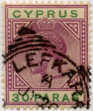CYPRUS LEFKARA VILLAGE POSTMARK on KG5th 30 pa VFU
