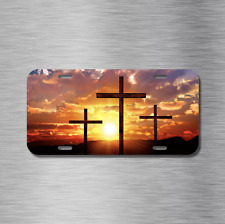Jesus Cross Vehicle License Plate Front Auto Tag Plate Christian Peace Love Joy