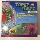 Topsy Turvy Upside Down Hummingbird Hangout Planter Attracts Birds Butterflies
