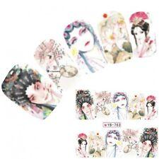 Tattoo Nail Art Aufkleber Anime Geisha Manga Japan Water Decall Neu!