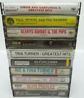 10 Oldies Rock / Pop Music Cassette Tape Lot (Lot 222) Elvis / Tina Turner
