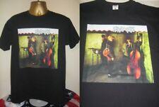 STRAY CATS- STRAY CATS 1981 ABLUM SLEEVE ART  PRINT T SHIRT- BLACK- EXTRA LARGE