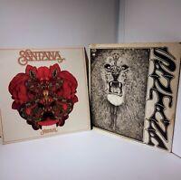 Santana Festival and Self Titled Debut Album Columbia Records 2 Vintage Vinyl