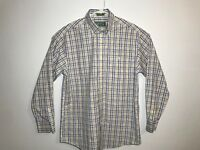 Orvis Collection Men Size M Long Sleeve Button Front Casual Shirt Multicolor EUC