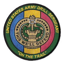 US Army Drill Sergeant Patch - On The Trail - Basic Training - Ft Jackson NCO DI