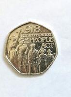 Representation of the PEOPLE ACT 50p coin, Rare 2018 50p coin, Circulated coin