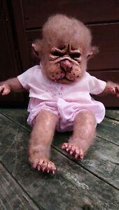 Werebaby Werewolf Baby OOAK ART DOLL Unusual Weird Cute Horror Handmade Not a...