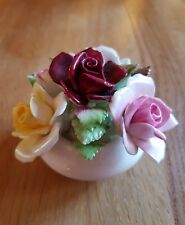 """■■ROYAL DOULTON HANDPAINTED/CRAFTED CHINA ROSE FLOWER ARRANGEMENT """"FREE POST"""""""