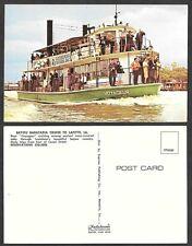 Old Louisiana Postcard - Bayou Barateria Cruise to Lafitte, Ship Voyageur