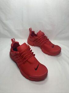 "NikeiD By You Air Presto ""Triple Red"" Men's Size 7 VRSTY RD/VRSTY RD 846438 997"