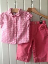 Baby Girl's Clothes 6-9 Months - Pretty Pink 2pc Top & Trousers Outfit By GAP